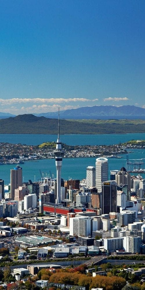 view of Auckland from top