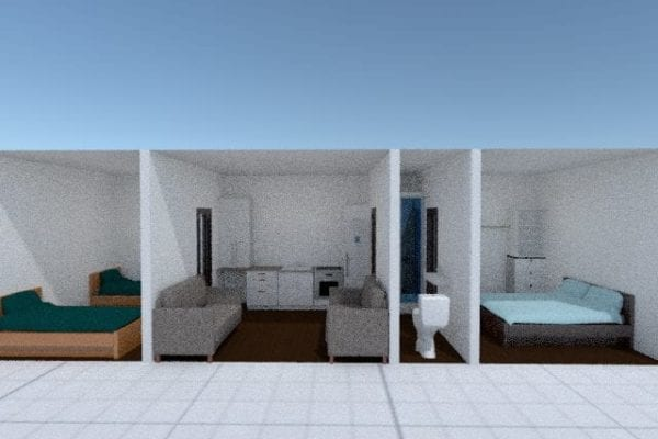 3d snapshot tiny house two bed Tiny homes